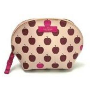kate spade apple print makeup cosmetic pouch bag